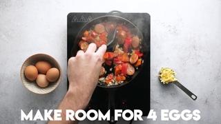 Яичница из колбасок Чоризо! Простейший рецепт для кето-диеты от Аарон Дея - кулинара из Австралии