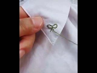 Лайфхак вышивки на одежде