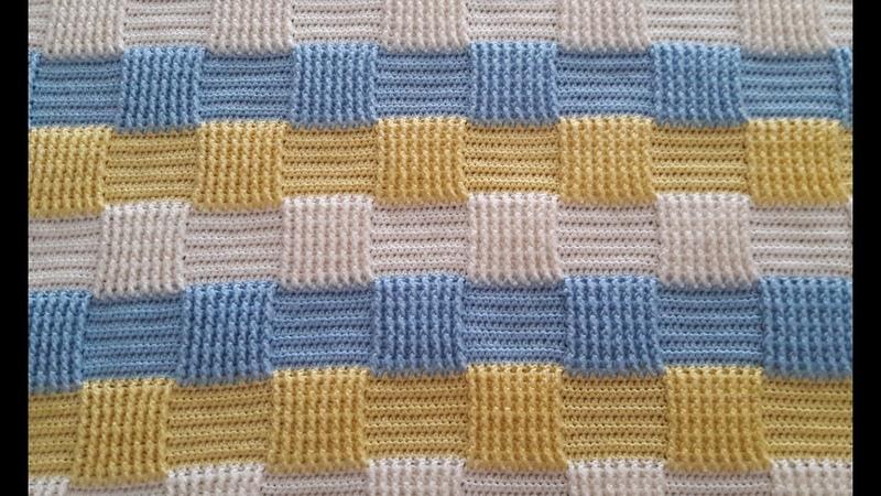3 Renkli Battaniye Bebek Tığ Modeli 3 Colors Baby Blanket Crochet Model