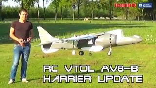 UPDATE: LARGE 1:8 SCALE AV-8B HARRIER VTOL PROTOTYPE (Designed and flown by Joel Vlashof)