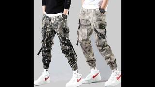 Мужские брюки карго с несколькими карманами в уличном стиле, повседневные шаровары в стиле хип хоп, спортивные брюки для бега,