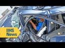 Small overlap crash test stymies most midsize SUVs IIHS News