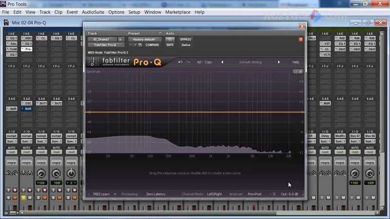 Подстраиваем анализатор фабфильтра Pro-Q под себя