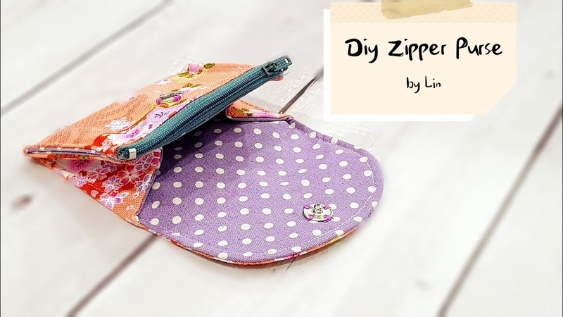Diy Purse with zipper | Best sewing tutorial【实用小钱包教学】简易版HandyMun❤❤
