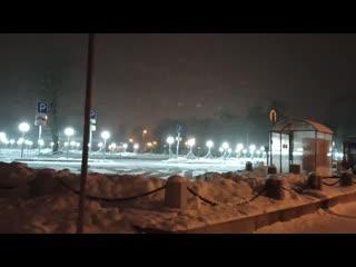 Освещение парковки в Петергофе