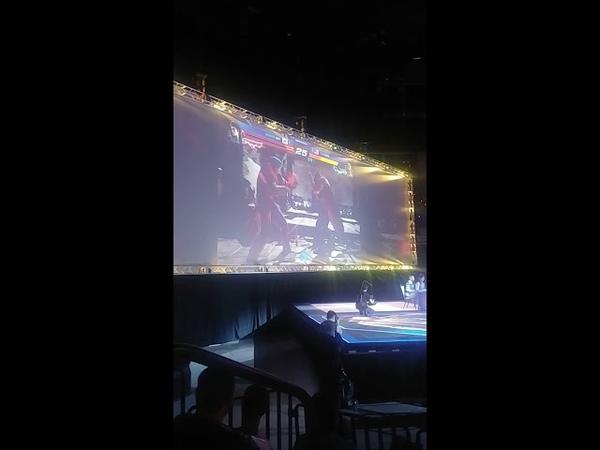 Evo 18 Tekken crowd chant power boost for lil majin vs JDCR