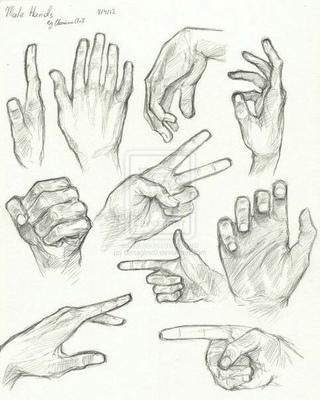 creative hand drawings - 660×780