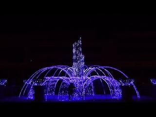 Световой фонтан. Набережная Комсомольска-на-Амуре.