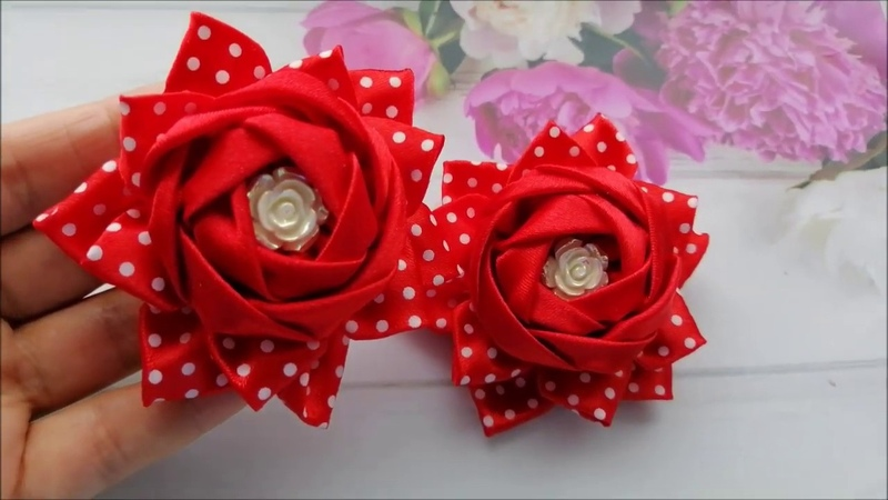 Нарядные бантики из атласных лент Легко и просто Elegant bows made of satin ribbons Laços de fitas