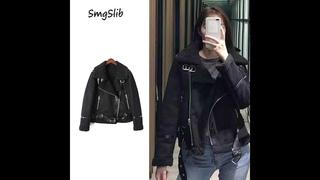 Теплая женская зимняя мотоциклетная бархатная куртка, женская короткая куртка с отворотами на меху, толстая корейская версия,