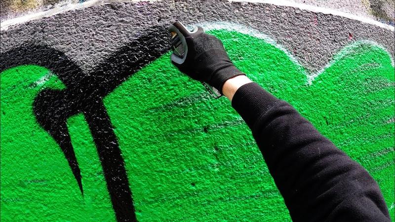 Graffiti Tesh Throw Up Bombing FAT CAP GoPro 4K