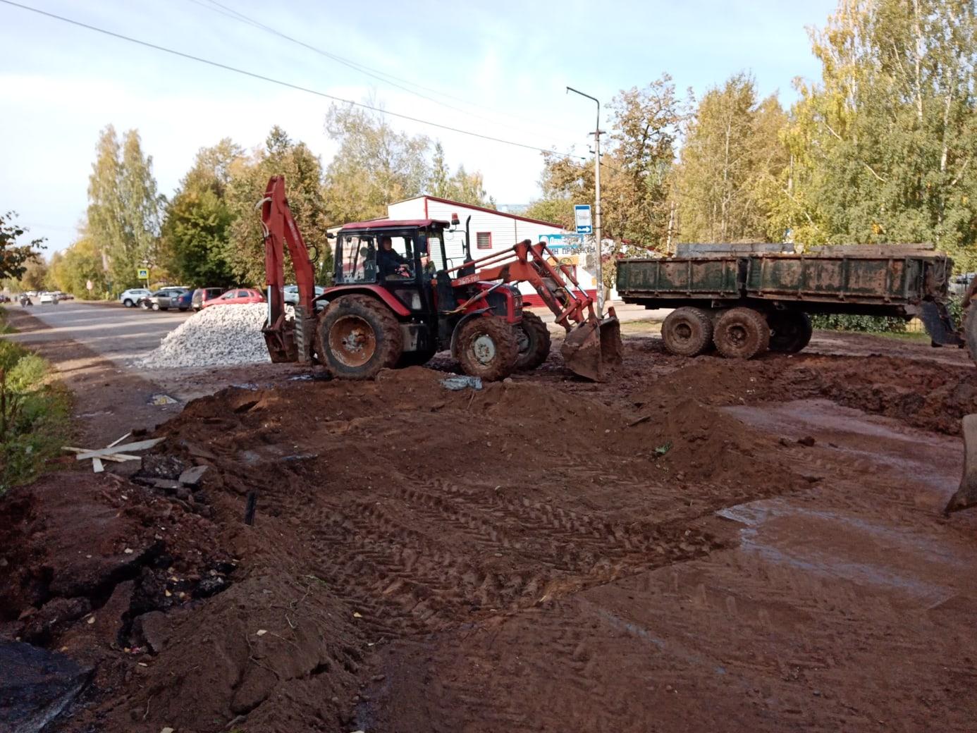 На месте устранения аварии на водопроводе по ул. Наговицына сделали временное покрытие.