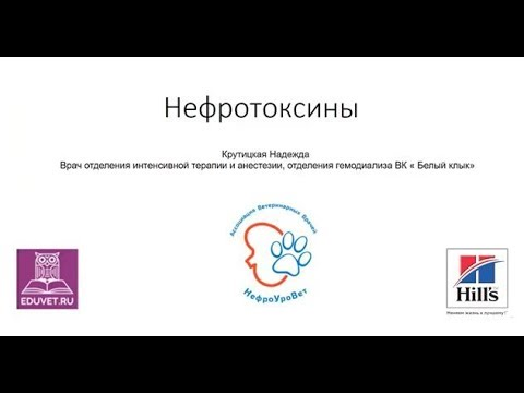 Вебинар на тему Нефротоксины Лектор Надежда Крутицкая