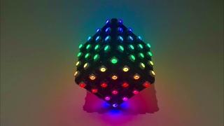 RGB Led Cube (96 LEDs, Battery Powered, Gyroscope & WiFi)