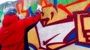 Как нарисовать открытку в виде граффити на стене. Поздравляю с 8 Марта! Подарок своими руками