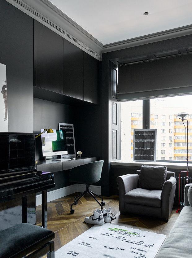 Московская квартира 300 м² с английским акцентом от студии Aiya Design || 02