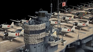 Aircraft carrier Akagi in 3D