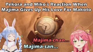 Pekora and Miko's Reaction When Majima Gives Up His Love For Makoto【Hololive English Sub】