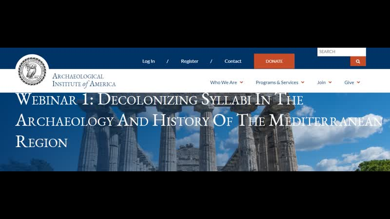 Archaeological Institute of America Webinar 1 Decolonizing Syllabi In The Archaeology And History Of The Mediterranean Region