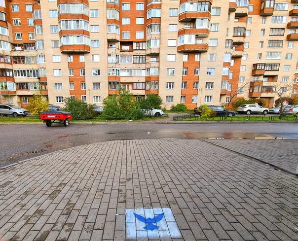 В Кронштадте воспитанники подростково-молодежного центра «МИР» время от времени мониторят улицы родного города и найдя рекламу наркотических веществ на асфальте, закрашивают ее изображением