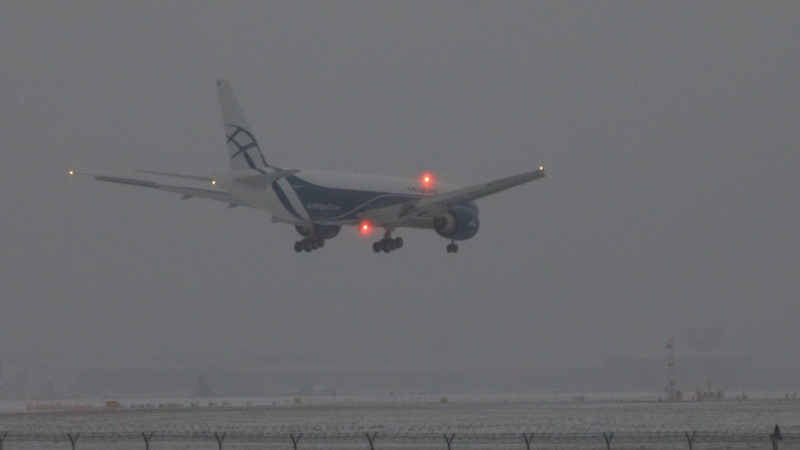 First landing of b777 ABC in Russia UUEE SVO. Первая посадка б777 АБЦ в Шереметьево. 01.12.2020.