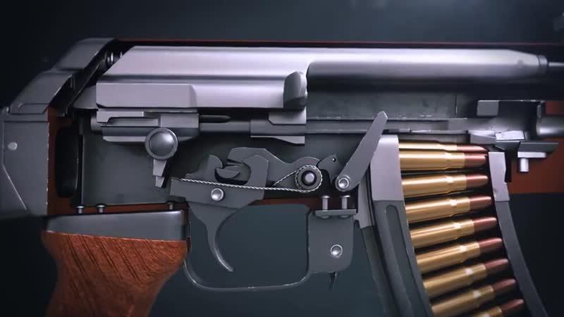 Как работает АК 47 Автомат Калашникова принцип работы
