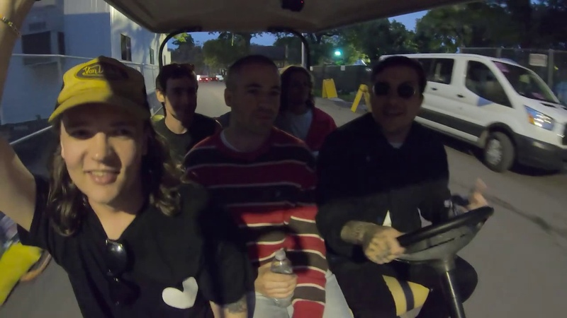 White Reaper Frank Iero | Artists in Golf Carts Getting Catering