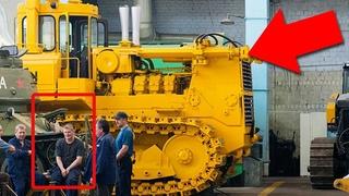 Что испугало иностранцев когда они завели Т-800 - самый большой бульдозер СССР!