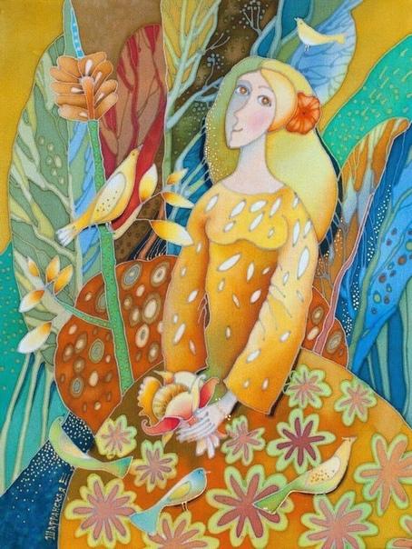 «Старая дура », - так сказала себе одна женщина средних лет в желтом платье. Золотистое платье с пуговками на ней было надето, с рюшами. И в этом нарядном платье она шла по скверу под дождём и
