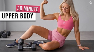 30 MIN ARMS, SHOULDERS, ABS with weights, dumbbells - no repeat, strength & hiit workout