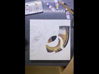 Процесс написания портрета