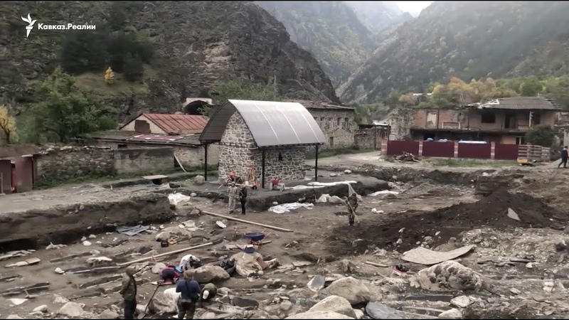 Раскопки аланских захоронений в Северной Осетии