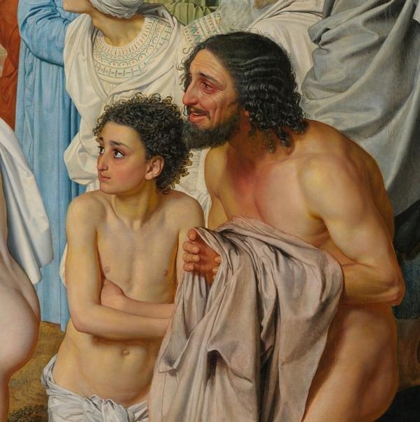 Александр Тышлер (26 июля 1898-1980): Недавно я был в Третьяковке и внимательно смотрел картину А. Иванова  Явление Христа народу. Это очень хорошая картина. Я долго смотрел, и она мне