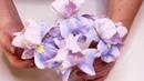 Ирисы из гофрированной бумаги с конфетой / Цветы к 8 марта / DIY Irises made of corrugated paper
