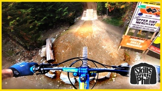 I Rode A Double Black Jump Trail With A Flat Tire! // Dirt Merchant // Whistler Part 2 of 4