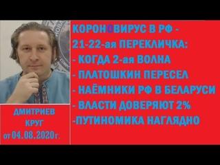 21-22-я перекличка при короновирусе: 2-я волна, Платошкин пересел, КГБ и наёмники РФ. ДК от