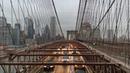 Прогулка вечером по Бруклинскому мосту, 12/09/2019. Нью-Йорк.   Brooklyn Bridge, New York.