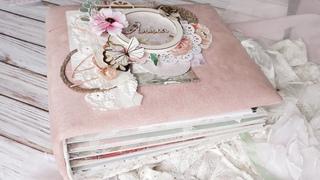 Фотоальбом ручной работы для девочки. Скрапбукинг