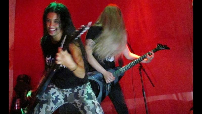 NERVOSA la banda de metal brasileña en Mérida, Mx.