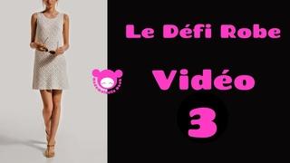 La petite robe blanche vidéo 3 pour les emmanchures