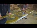 Стела Озёры, изготовление, июль 2014 г
