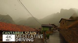 Meditative Driving in the Rain 4K🎼Chopin - Preludes  | Медитативное Вождение В Дождь, Cantabria
