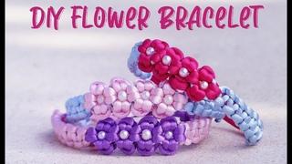 HOW TO MAKE DIY FLOWER BRACELET I Cute & Easy Daisy Chain Macrame Bracelet I Macrame For Begginners