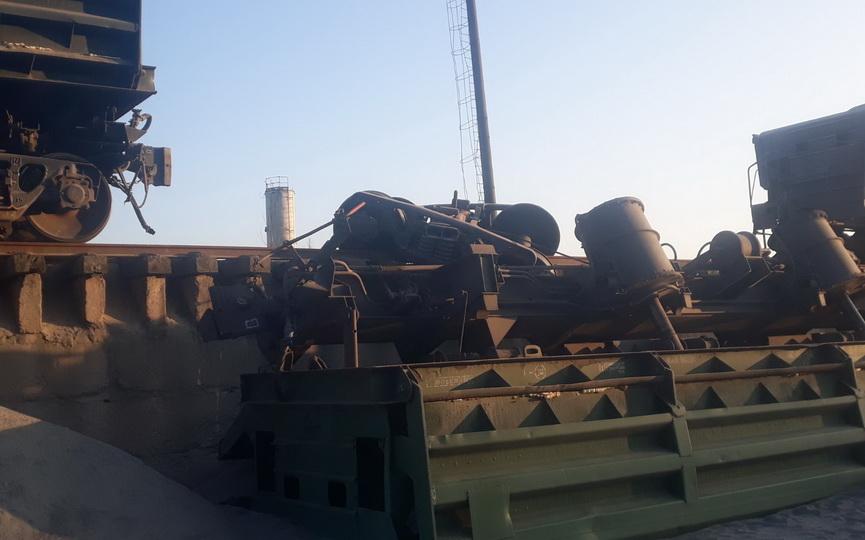 Вагон товарного поезда сошел с рельсов и перевернулся в Барановичском районе