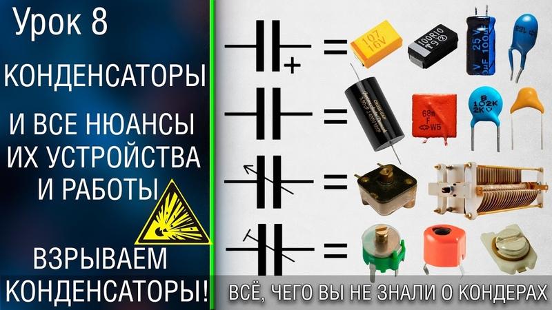 🧧 8 Конденсатор Как ток передается через диэлектрик Смотрим что у конденсатора внутри