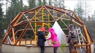 Building a Greenhouse in the Boreal Forest OFF GRID with My Family, Hailstorm, Arctic Acres