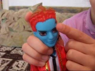 Распаковка поддельной куклы Монстр Хай. Холд Хайд.Шарнирная подделка.