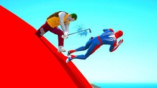 GTA 5 Gameplay Ragdolls SPIDERMAN VS HULK (Euphoria Physics & Funny Fails) compilation SUPERHEROES
