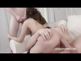 Legal Porno - Emily Wilson first time DP with Balls Deep Anal, Manhandle, Rough Sex and Cum in the mouth