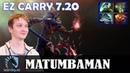 MATUMBAMAN - Dazzle MID   EZ CARRY 7.20   Dota 2 Pro MMR Gameplay